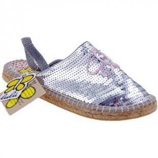 Lulu Espadrilles Campesina Pailletten sandale