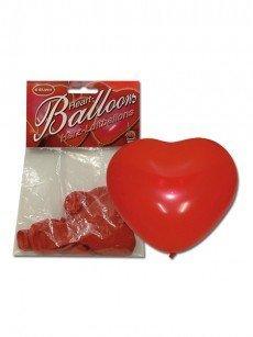 Luftballons: Herzen, 6er Packung