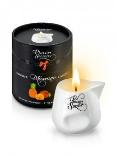 Plaisirs Secrets: Massagekerze Pineapple Mango (80ml)