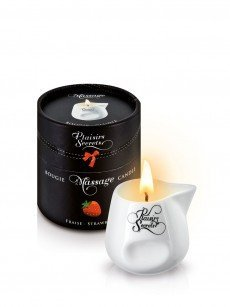 Plaisirs Secrets: Massagekerze, Strawberry (80ml)