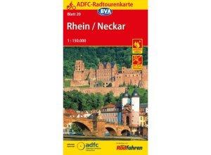 ADFC-Radtourenkarte 20 Rhein / Neckar - 15. Auflage 2016 - Fahrradkarten - BVA Bielefelder Verlag