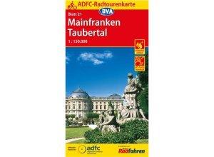 ADFC-Radtourenkarte 21 Mainfranken - 13. Auflage 2016 - Fahrradkarten - BVA Bielefelder Verlag