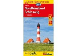 ADFC-Radtourenkarte Nordfriesland - 8. Auflage 2017 - Fahrradkarten - BVA Bielefelder Verlag
