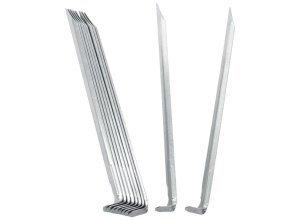 Meru Steel V-Shape Pegs - Heringe
