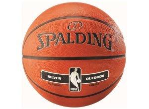 Spalding NBA Silver Outdoor Basketball, orange