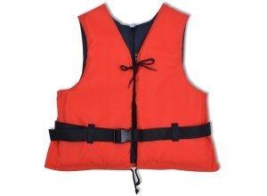 vidaXL Schwimmweste 50 N 90+ kg Rot