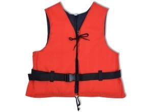vidaXL Schwimmweste 50 N 70-90 kg Rot
