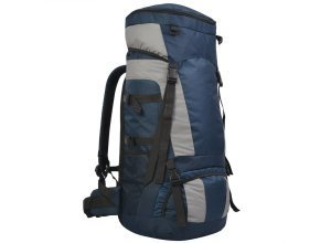 vidaXL Wanderrucksack mit Regenschutz XXL 75 L Marineblau