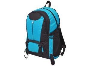 vidaXL Wanderrucksack 40 L Schwarz und Blau