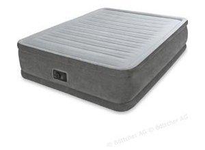 Luftbett Intex Comfort-Plush Airbed, Queen-Size, 203 x 152 x 46cm, mit Luftpumpe, selbstaufblasend