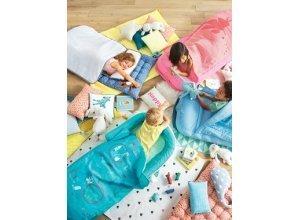 VERTBAUDET Kinderschlafsack mit Luftmatratze ´´Fee´´ rosa bedruckt fee