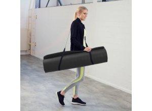 Yogamatte aus Schaumstoff 180 x 60 x 1,5 cm schwarz von TecTake