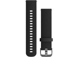 Garmin Schnellwechsel-Armband 20mm - schwarz / schieferfarben Unisex Laufzubehör schwarz