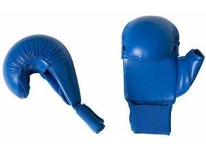 Karate-Handschuhe mit Daumen blau