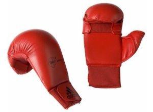 Karate-Handschuhe mit Daumen rot