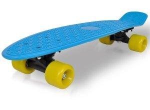 vidaXL Retro-Skateboard mit blauem Deck und gelben Rollen 6,1´´