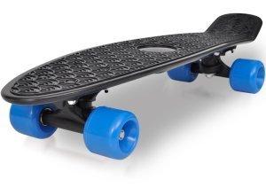 vidaXL Retro-Skateboard mit schwarzem Deck und blauen Rollen 6,1´´