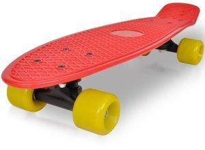 vidaXL Retro-Skateboard mit rotem Deck und gelben Rollen 6,1´´