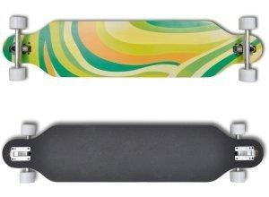 vidaXL Longboard Skateboard Streetsurfer Long Board Grün 9´´