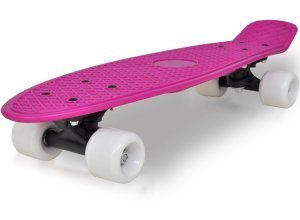 vidaXL Retro Skateboard mit lila Trittfläche und weißen Rollen 6.1´´