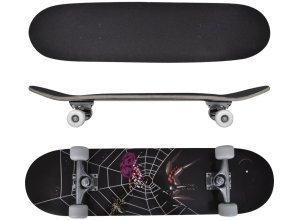 vidaXL Ovales Skateboard 9-lagiges Ahornholz Spinnen-Design 8´´