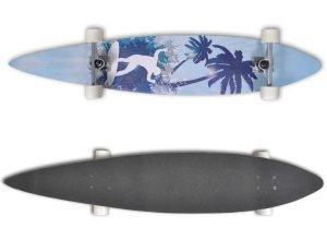 vidaXL Longboard Skateboard Streetsurfer 117cm 9´´ Komplettboard Design Board