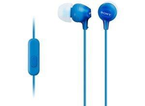 Sony In-Ear Kopfhörer mit integriertem Mikrofon für Smartphones »MDR-EX15AP«, blau