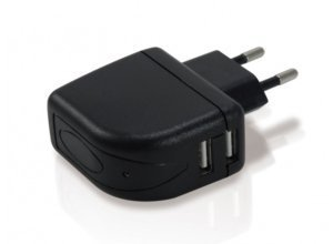Conceptronic Lader »Dual USB Tablet Charger 2A«, schwarz