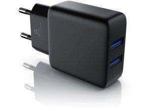 Aplic 2-Port USB Ladegerät mit 2100mA »geeignet für Handys, Smartphones, Tablet«, schwarz