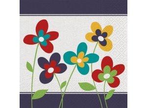 Servietten, 33x33cm, 3-lagig - VE 20 Stück, Blumen