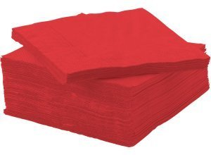 FANTASTISK, Papierserviette, rot