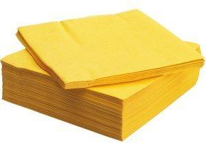 FANTASTISK, Papierserviette, gelb