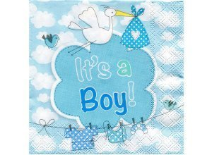 Papierserviette ´´It's a Boy´´, 25 x 25 cm, 20 Stück