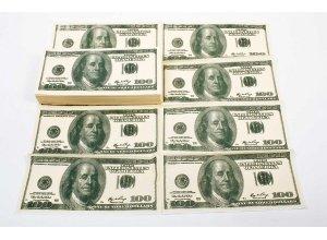 US Dollar-Schein Servietten