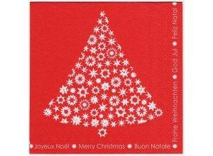 Servietten, 33x33cm, 3-lagig - VE 20 Stück, Weihnachtsbaum