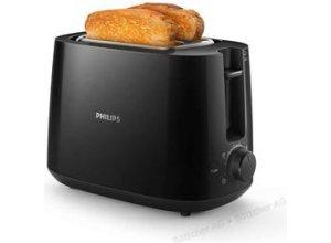 Philips Toaster Daily Collection HD2581/90, 2 Scheiben, 830 Watt, Kunststoffgehäuse, schwarz