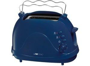 Clatronic 2 Scheiben-Toaster mit intgr. Brötchenaufsatz, 700 Watt »TA 3565«, blau