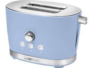 CLATRONIC Toaster Clatronic TA 3690 blau, 2 kurze Schlitze, für 2 Scheiben, 850 W, blau