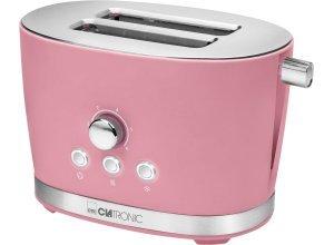 CLATRONIC Toaster Clatronic TA 3690 pink, 2 kurze Schlitze, für 2 Scheiben, 850 W, rosa
