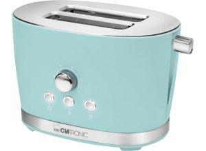 CLATRONIC Toaster Clatronic TA 3690 mint grün, 2 kurze Schlitze, für 2 Scheiben, 850 W, grün