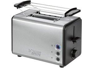 BOMANN 2 Scheiben-Toaster mit abnehmbaren Brötchenaufsatz »TA 1371 CB Estate«, schwarz