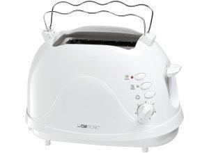 Clatronic 2 Scheiben-Toaster mit intgr. Brötchenaufsatz, 700 Watt »TA 3565«, weiß