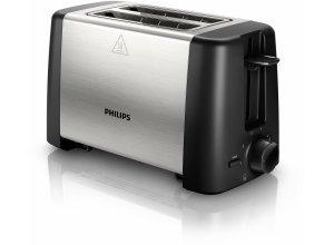 Philips Toaster HD4825/90, 800 W, Auftau- und Aufwärmfunktion, silberfarben