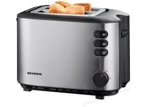 Severin Toaster AT 2514, 2 Scheiben, 850 Watt, Edelstahl gebürstet, silber