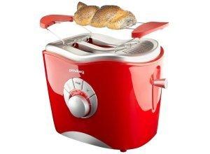 Privileg Toaster T330, für 2 Scheiben, 860 W, rot