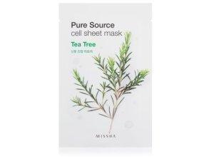 MISSHA Pure Source Cell Sheet Mask Tea Tree Tuchmaske 1 Stk