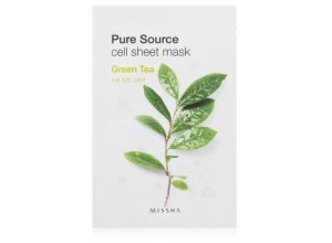 MISSHA Pure Source Cell Sheet Mask Green Tea Tuchmaske 1 Stk