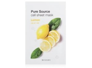 MISSHA Pure Source Cell Sheet Mask Lemon Tuchmaske 1 Stk