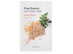 MISSHA Pure Source Cell Sheet Mask Lentil Bean Tuchmaske 1 Stk