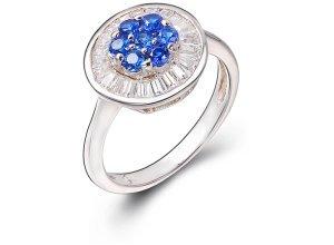Ring aus weißgoldplattiertem Silber mit Zirkonia - 56